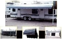 RV Awning Screen Room Motorhome Awning RV Sun Shade- 16' and 17