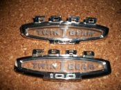 Ford F100 Twin I Beam fender emblems